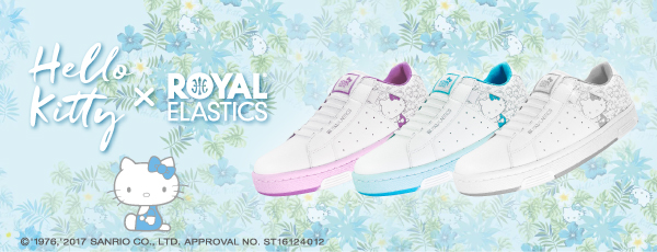 ハローキティとオーストラリア発のスニーカーブランド「ROYAL ELASTICS」のコラボシューズの発売記念キャンペーン開始!