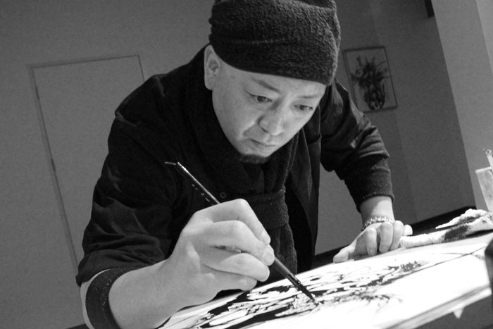 【スター・ウォーズ】迫力の武人画ライブアートイベント開催!