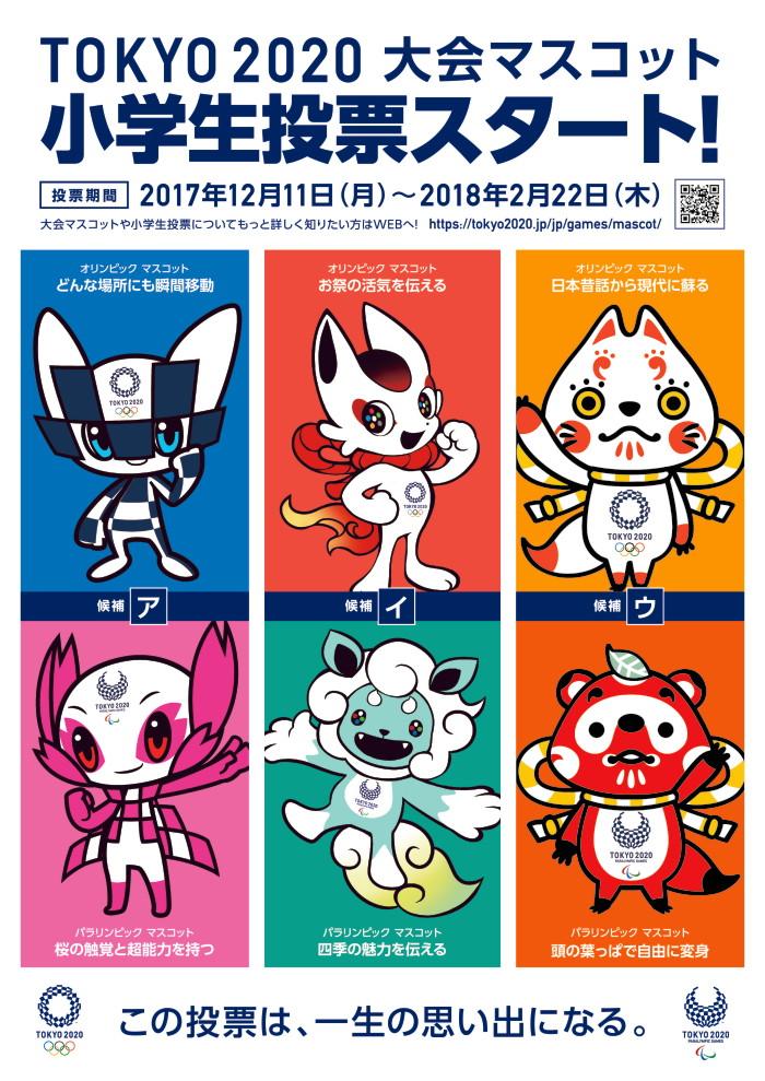 東京2020オリンピック・パラリンピック競技大会のマスコット、最終候補3案が発表!