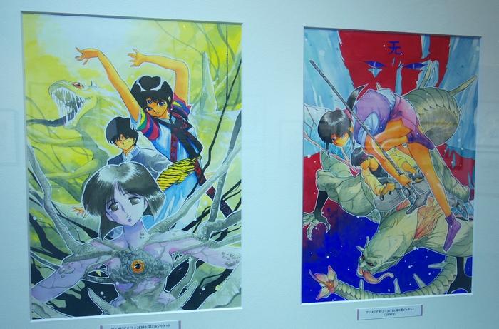 高田先生と林原めぐみさんも登場!30年の歴史が集合した「3×3EYES」原画展開催中!