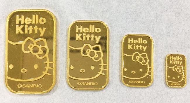 【新商品】ハローキティ ゴールドバーを販売開始!