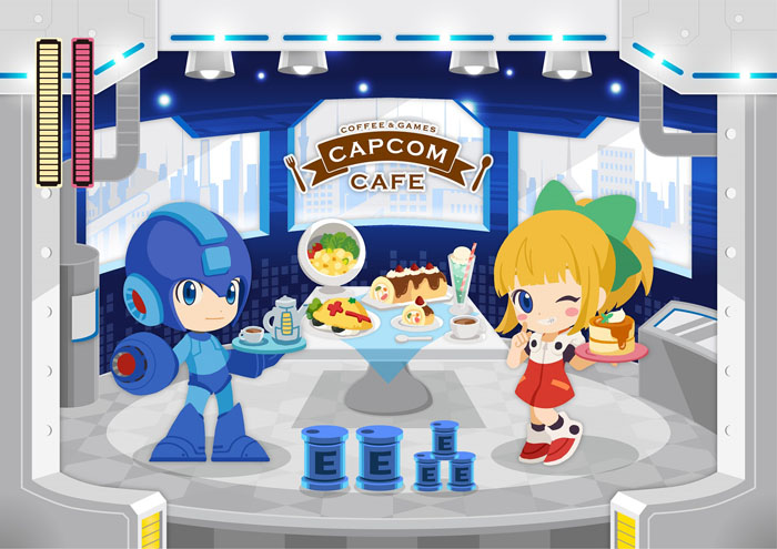 カプコンカフェ イオンレイクタウン店 「ロックマン」コラボ決定!