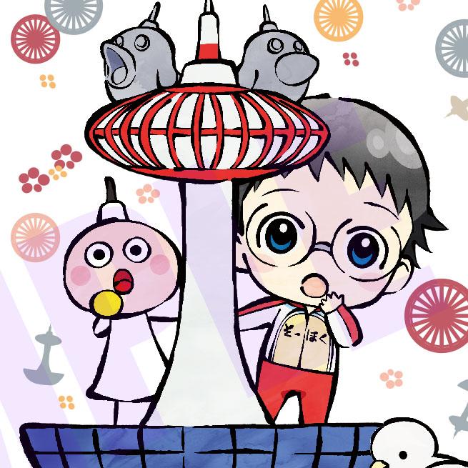 「弱虫ペダル GLORY LINE×京都タワー」 デフォルメキャラのグッズ受注販売開始!