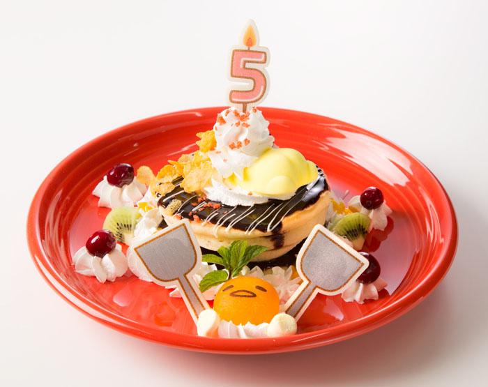 ぐでたま誕生5周年メニューは、大阪店ならではの限定スイーツ!