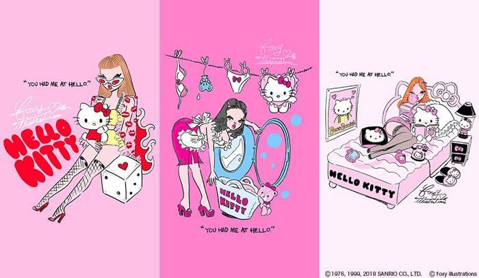 ハローキティと人気イラストレーターfoxy illustrationsがはじめてのコラボ!