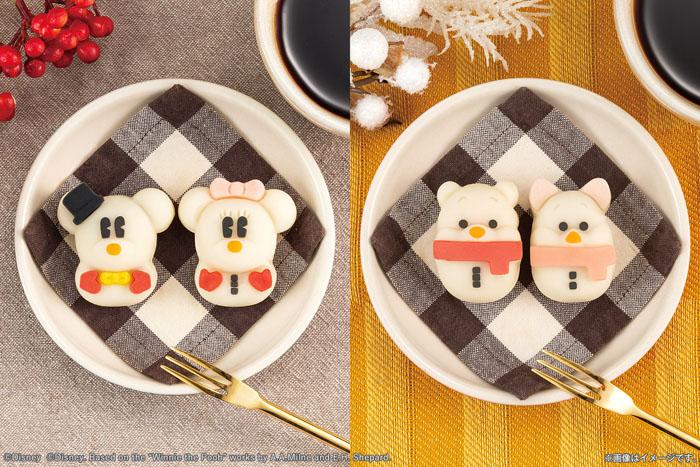 ミッキーたちが雪だるまの姿で和菓子になりました!