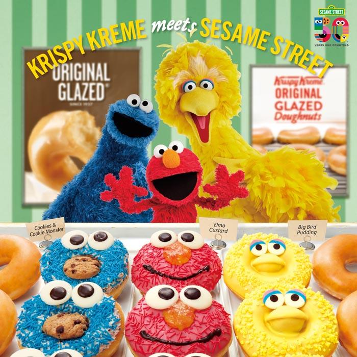 「エルモ」「クッキーモンスター」「ビックバード」がドーナツに大変身!