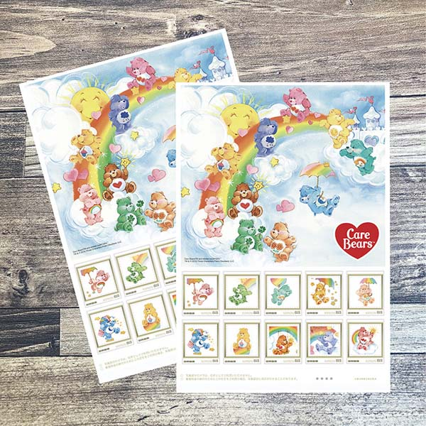 人気キャラクター『ケアベア™』の切手とピクチャーボードがセットになって届く!