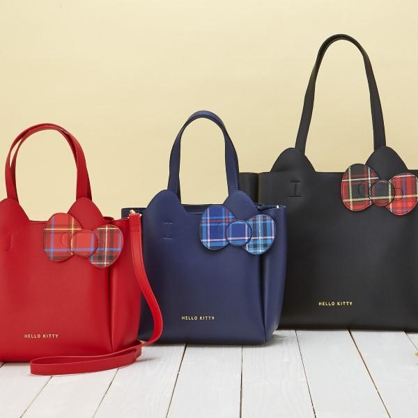 秋冬にピッタリ!大人ファッションにも合う「ハローキティ タータンデザインバッグ」