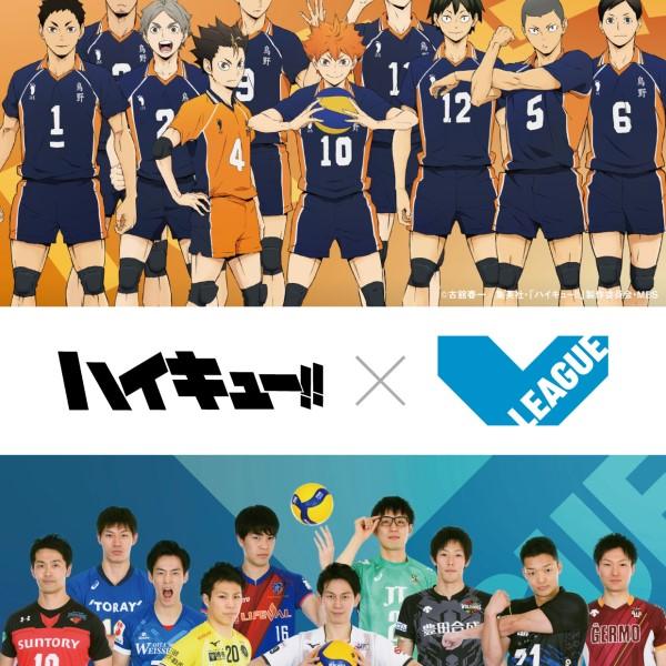 小野寺選手がツッキー、山本選手がノヤっさんに!「ハイキュー!!」×V.LEAGUEのコラボビジュアル完成!