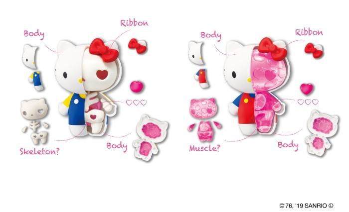 キティとマイメロの骨格や筋肉を組み立てる!?新フィギュア「KAITAI FANTASY」登場!