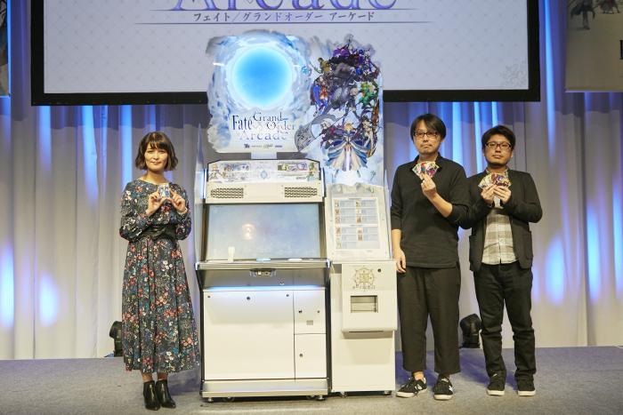 『Fate/Grand Order Arcade』キービジュアル&ゲーム機を初お披露目!声優・川澄綾子も感激!