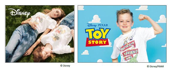 ディズニーとピクサーの人気キャラクターがジーユーのTシャツに登場!