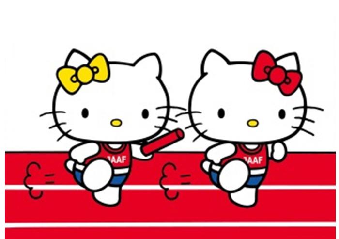「日本陸上競技連盟(JAAF)×ハローキティ」初コラボ