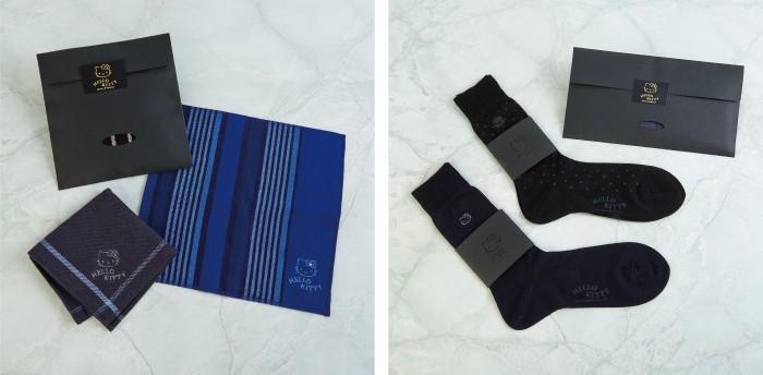 メンズのためのハローキティデザイン!タオルハンカチ&ソックスを発売