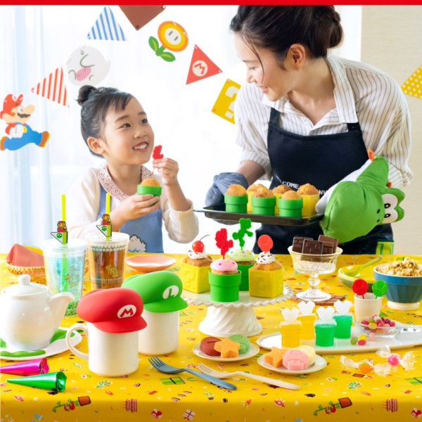 いつもの食卓がマリオの世界に!「スーパーマリオ ホーム&パーティ」新商品が登場