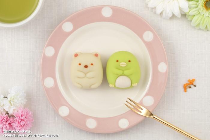 すみっコぐらしが「食べマス」初登場!「しろくま」と「ぺんぎん?」が和菓子に変身♪