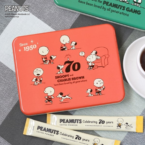 「ピーナッツ」生誕70周年記念の缶ケース入りコーヒーが登場!