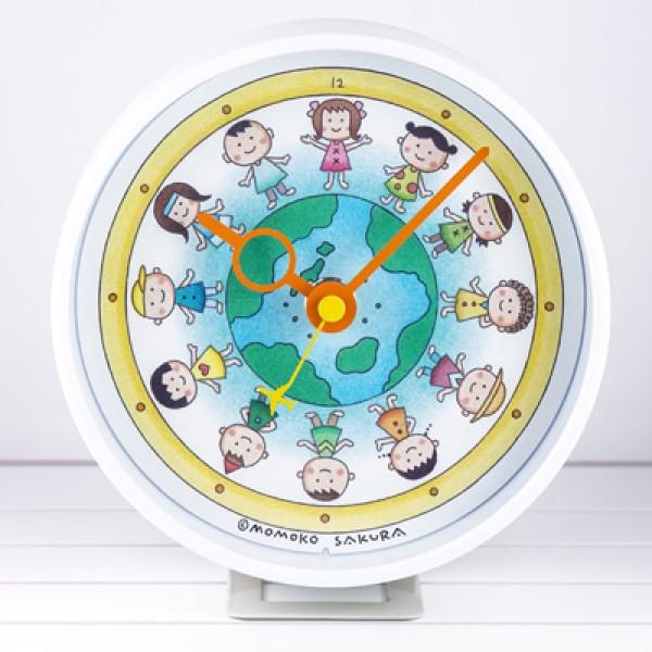 さくらももこデザイン「地球の子供たち」イラストの2WAYクロックが誕生!