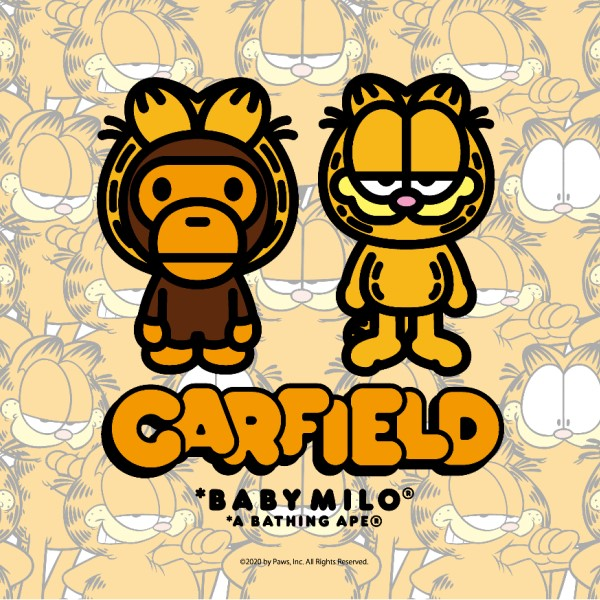 「GARFIELD」×「A BATHING APE®」コラボアイテムが発売!