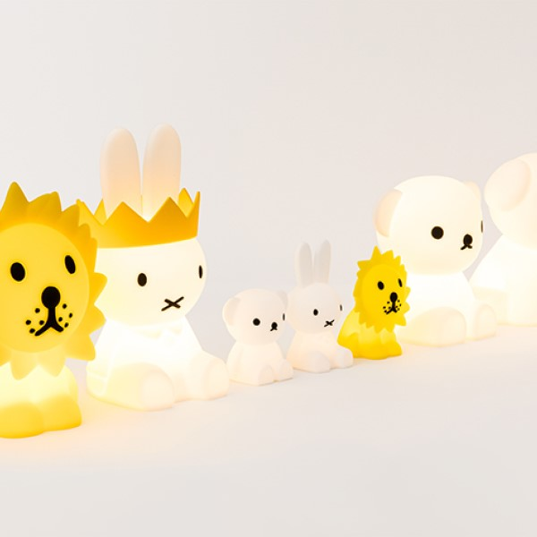 ミッフィーや仲間たちがやさしく光る♪インテリア照明が発売中!