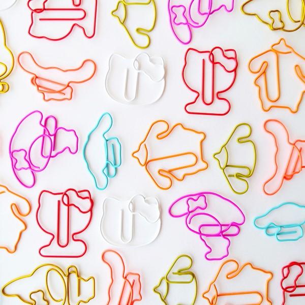 プリンやシナモンのシルエットが超キュート♡サンリオの「クリップセット」発売中♪