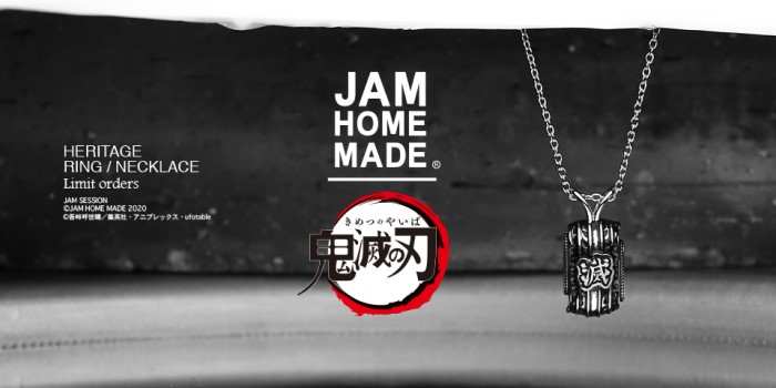 「鬼滅の刃」×「JAM HOME MADE」初セッション!鬼殺隊イメージのジュエリー登場