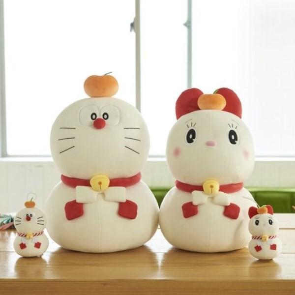 鏡餅姿のドラえもん&ドラミが超キュート♡郵便局のネットショップにグッズ登場!