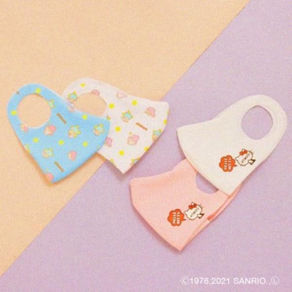 キティちゃん&キキララが「atmos pink」とのコラボマスクになったよ♡