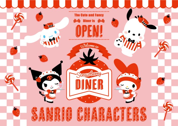 サンリオキャラが「いちご×アメリカンダイナー」デザインに♡ナムコのお店にGO!