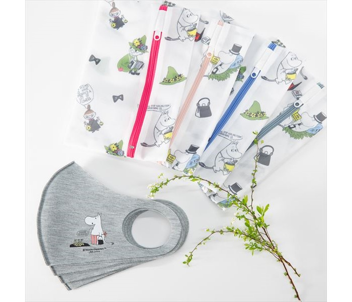 「ムーミン」マスク&洗濯ネットになるポーチのセットがヴィレヴァン通販に登場!