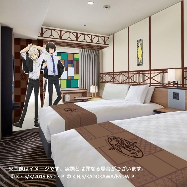 「文豪ストレイドッグス」フロアがサンシャインシティプリンスホテルに登場!