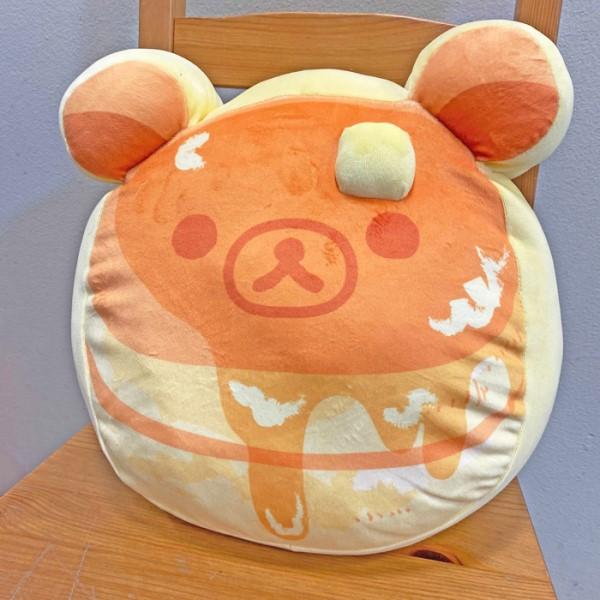 「リラックマ」パンケーキの形のモチモチクッションがヴィレヴァン通販に登場♪