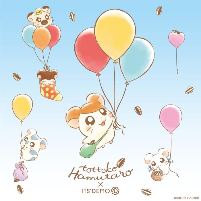 「とっとこハム太郎」×「ITS'DEMO」オリジナルアートのコラボ商品発売!!