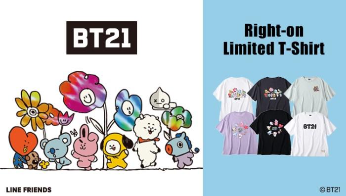 「BT21」ライトオン限定のTシャツ登場!オンラインで先行予約まもなく♪