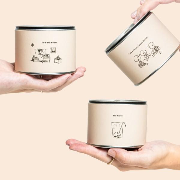 「PEANUTS」×「煎茶堂東京」スヌーピーと仲間たちデザインのコラボ茶缶登場!