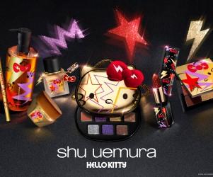 「ハローキティ」がロックテイストに!「shu uemura」ホリデーコレクション